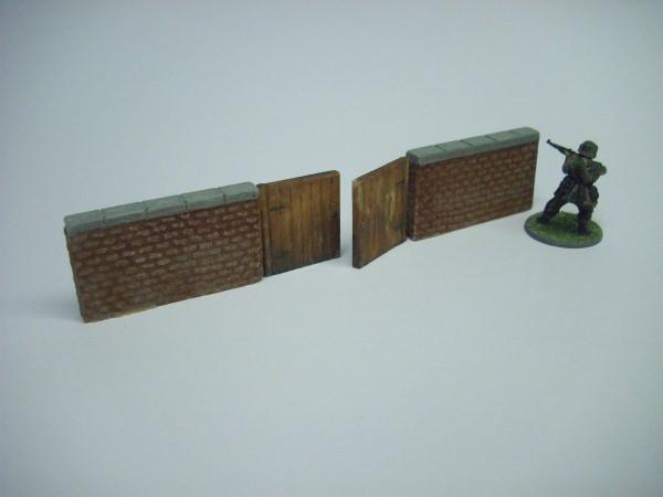 BRICK WALL WITH GATES