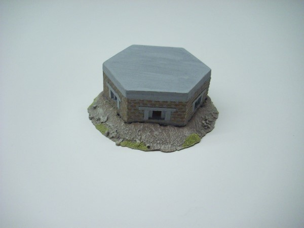 BRITISH PILL BOX. BRICK FACED + EARTH