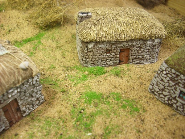 SCOTTISH BLACK HOUSE with stone chimney