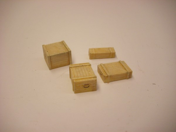 1:56  4 WOODEN SUPPLY CRATES
