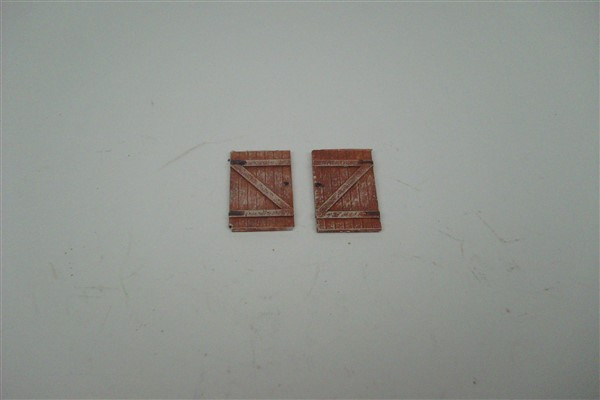 1:76  GATES FOR WOODEN FENCE  x 2 pairs