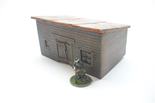 1:56  CUT TIMBER LOG CABIN  with flat tin roof