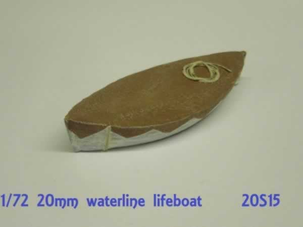 SHIPS LIFEBOAT. WATERLINE MODEL