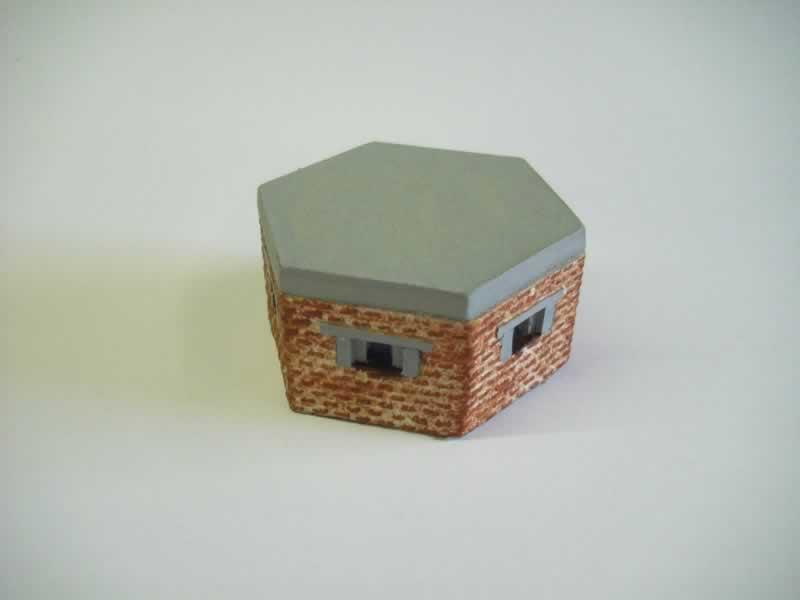 BRITISH PILL BOX BRICK FACED
